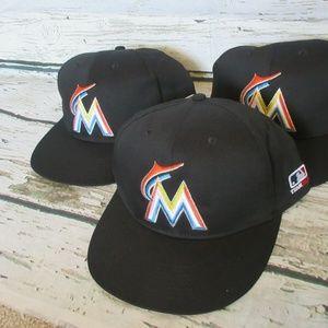 New Florida MIAMI MARLINS OC Sports Hat lot (3)